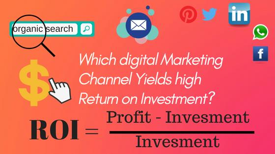 DIGITAL MARKETING CHANNEL YIELDS HIGH ROI