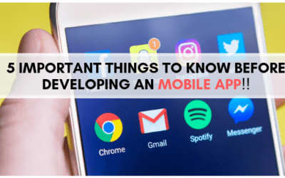5 Important Things to know before developing an Mobile App.