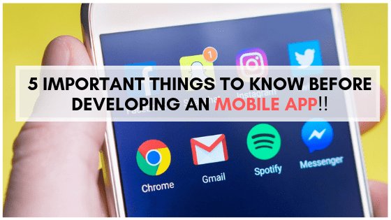 Websitica - things to know but developing a mobile app